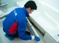 エプロン内部高圧洗浄&防カビ仕上げ